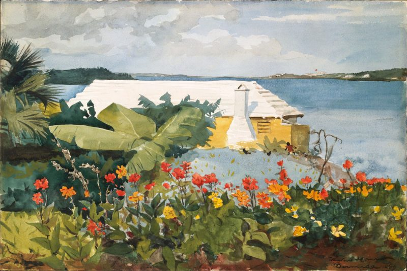 Winslow Homer's 1899 Painting, Flower Garden and Bungalow