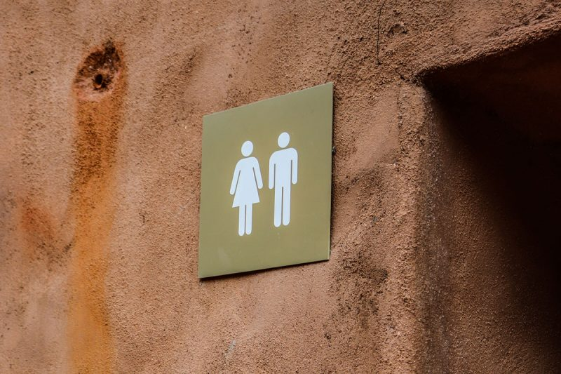 Men's and women's toilet sign